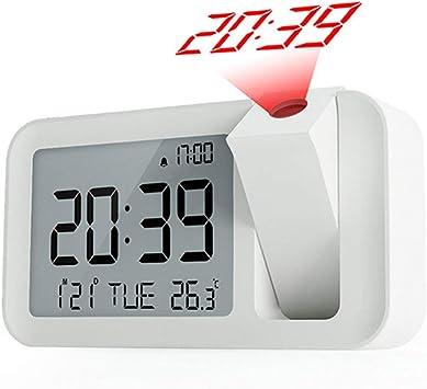 Radio despertador proyector, multifuncional USB Digital ...