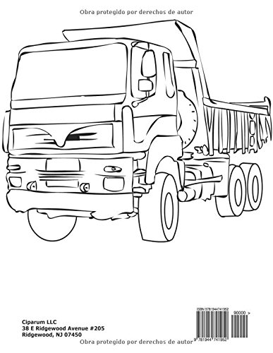 Libro para Colorear el camion (Spanish Edition): Coloring Pages for ...