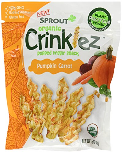 Sprout Organic Baby Food Crinklez Toddler Snack, Pumpkin Carrot, 1.5 Ounce