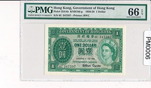 1959 HK PM0006 Hong Kong Dollar PMG 66 EPQ Gem Uncirculated pick 324Ab government of hong kong DE PO-01 ()