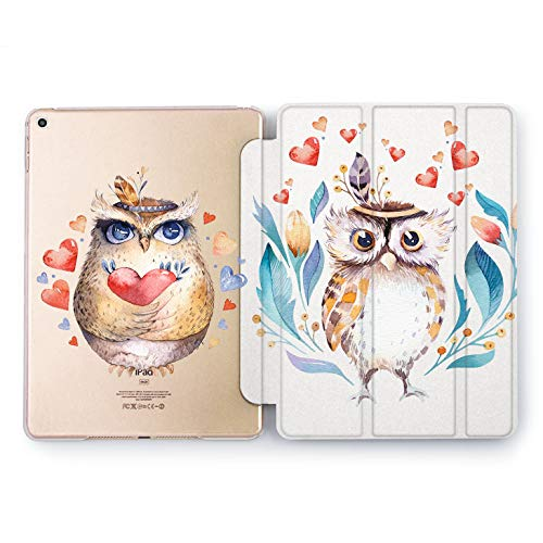 Wonder Wild Owl Love iPad Case 9.7 Pro inch Mini 1 2 3 4 Air 2 10.5 12.9 2018 2017 Design 5th 6th Gen Clear Print Smart Hard Cover Animals Cute Birds Indian Head Bandage Couple Adorable Girly Drawn]()