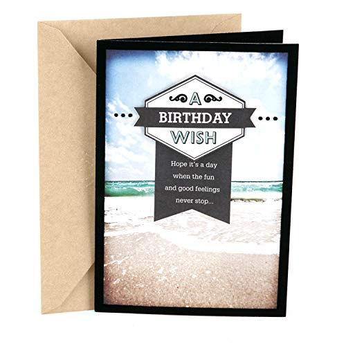 (Hallmark Birthday Card for Him (Beach))