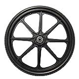 20 x 2.125 Flat-Free Cart Wheel On Plastic Rim