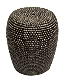 Sagebrook Home FC10247-02 Bead Texture Ceramic Garden Stool, Bronze Ceramic, 15 x 15 x 18.5 Inches