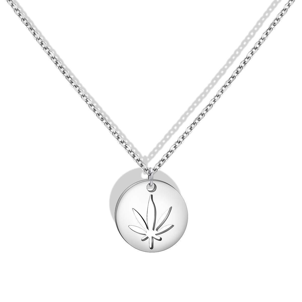BNQL Cutout Marijuana Pot Leaf Necklace Bracelet Cannabis 420 Jewelry