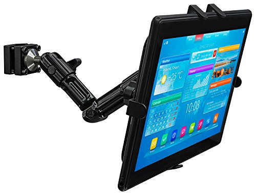 Mount-It! MI-7310 Car Back Seat Headrest Tablet Mount Fits Apple iPad, Samsung Galaxy Tab, Microsoft Surface, Other Tablets with 7 to 11 inch Screen Sizes, 3.3 lbs Rated, Lockable Joints, Full Motion by Mount-It!