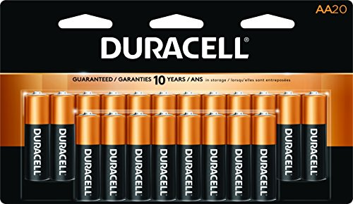 Duracell CopperTop AA Alkaline Batteries, 20 (Duracell Battery Life)