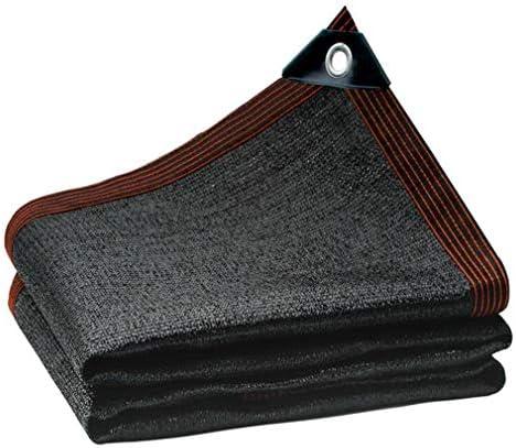 HUYYA 90%日焼け止め シェード 布 ネット、シェーディングネット ミシン目付き 遮光日よけネット 強化エッジ オーニングシェード 角補強 テラス用,Black_2x2m/6x6ft