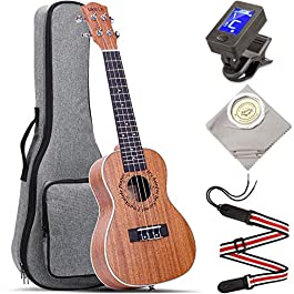 Concert Ukulele UKELE 23 inch Wide Neck Big Fingerboard Nut ukuleles Kit Professional Ukeleles for Beginners Starter…