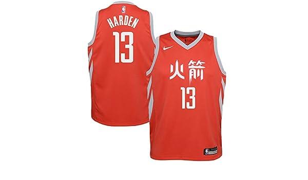 Nike NBA Houston Rockets James Harden 13 2017 2018 City Edition Jersey Official, Camiseta de Niño: Amazon.es: Ropa y accesorios