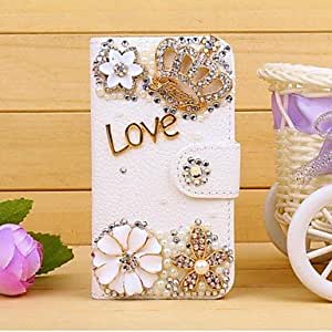 HP DFDiamond Crown PU Leather Full Body Case with Stand and Card Slot for iPhone 5/5S