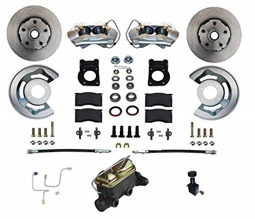 Brake Manual Mustang Disc - GPS Automotive FC0001-405 - Manual Conversion Kit with Cast Iron M/C Adjustable Proportioning Valve