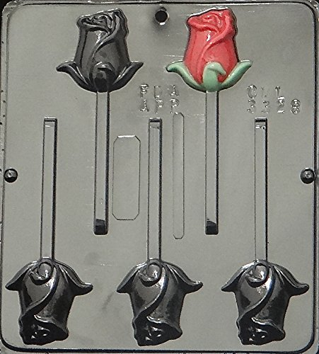 Rose Lollipop Chocolate Candy Mold 3328 ()