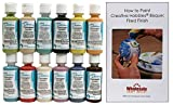 Duncan CNKIT-8 Concepts Sprinkles Underglaze Paint Set, 12 Best Selling Colors in 2 Ounce Bottles with Free How To Paint Ceramics Book
