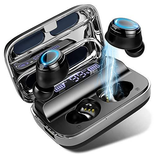 Bluetooth Kopfhörer In Ear Kopfhörer Kabellos mit 125 Stunden Spielzeit, Wireless Kopfhörer Sport Ohrhörer IPX7 Wasserdicht, Stereo Deep Bass,Touch-Control, Stereoanrufe, Battery LED Display