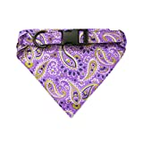 dog bandana sewing pattern - Dog Bandana Collar Pet Neckerchief For Small - Medium Dogs (14.5 - 24.5 Inches) Handmade by Hide & Drink :: Purple Paisley