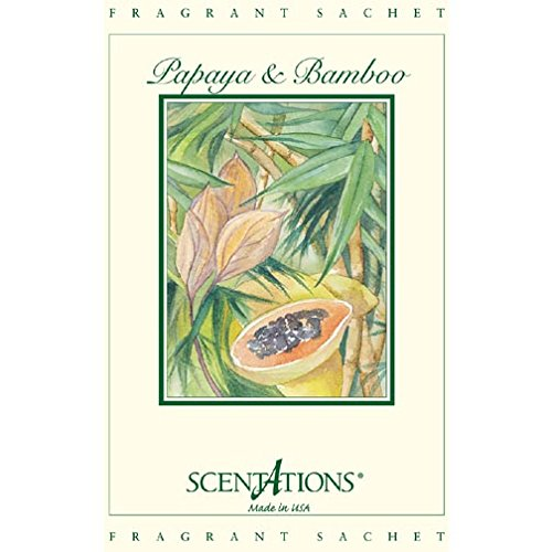 Scentations Fragrance Sachet 1.3 Oz. Set of 6 - Papaya Bamboo by Scentations (Image #1)