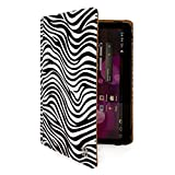 VanGoddy Mary Leather Folio Carrying Case for Visual Land Premier 10 / UnBranded UB-15MS10SA / Vulcan & Trio 10.1-inch Tablets (Zebra)