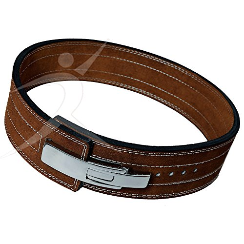 ARD CHAMPS10MM Weight Power Lifting Leather Lever Pro Belt Gym Training Brown