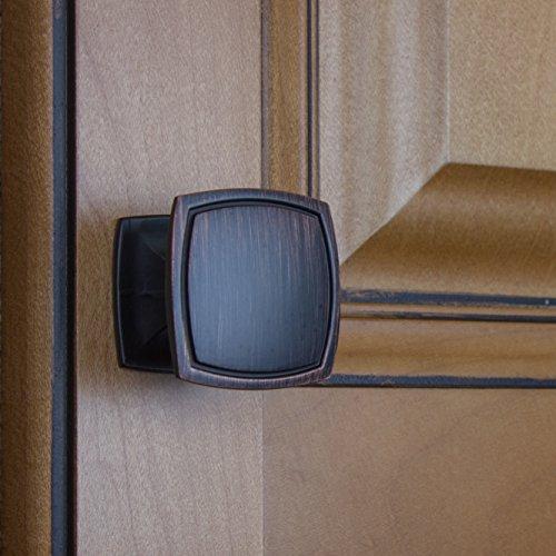 GlideRite Hardware 901412-ORB-100 Square Cabinet Knobs, 100 Pack, 1.5'', Oil Rubbed Bronze by GlideRite Hardware (Image #4)