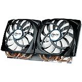 Arctic Cooling Accelero Twin Turbo 690 - Ventilador de PC (Enfriador, Tarjeta de video, 12 cm, Aluminio, Negro, Bronce, Color blanco, 5,04W, 13,8 cm)