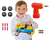 Take Apart Toy Racing Car Kit for Kids TG642 (Version3!!) - Build Your Own Car Kit Toy for Boys & Girls Aged 3+ - 30 Parts with Realistic Sounds & Lights by ThinkGizmos (Trademark Protected)