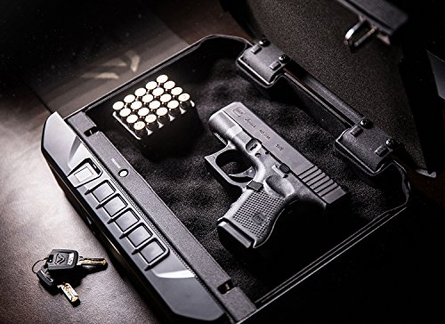 VAULTEK VT20i Biometric Bluetooth Smart Pistol Safe with Auto-Open Lid and Rechargeable Battery