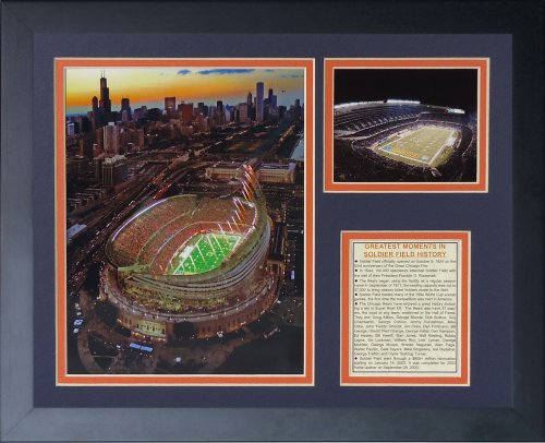 Legends Never Die Soldier Field Framed Photo Collage, 11x14-Inch