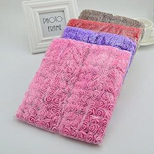 FLOWERS 144pcs Artificial Mini Foam Roses for Home Wedding Decora DIY Needlework Bride Wreath Gift Box Fake Bouquet 113