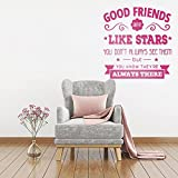 Best Are Like Stars Wall Stickers - Vinyl Removable Wall Stickers Mural Decal Good Friends Review