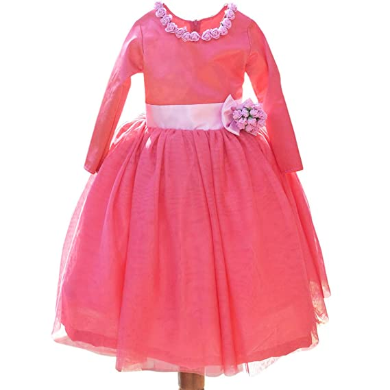 PinkBlue India Kids Girls Party Wear Gown Dress Designer Baby Dress Pink   Amazon.in  Clothing   Accessories 7aed3ac4d