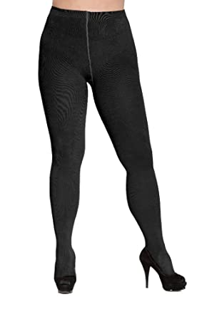 4d405273a7b Plus Size Winter Soft Knit Tights 3xl to 4xl (black long) at Amazon ...
