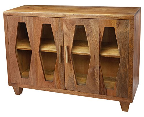 Natural Mango Retro Diamond 33in.H X 16in.W X 46in.L Cabinet by Dimond