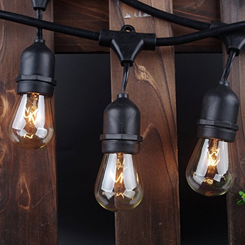 outdoor string lights 48ft