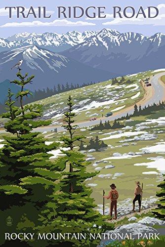Rocky Mountain National Park, Colorado - Trail Ridge Road (12x18 Art Print, Wall Decor Travel (Rocky Mountain Paper)