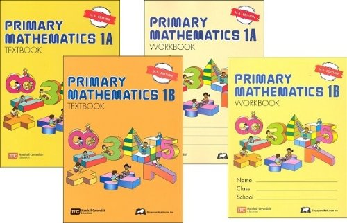 Math Text - Singapore Primary Mathematics Level 1 Kit (US Edition), Workbooks 1A and 1B, and Textbooks 1A and 1B by Singapore Math; U.S. Edition edition (2003) (2003)