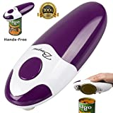 BangRui Smooth Soft Edge Electric Can Opener with One-Button Manual Start / Stop, Purple