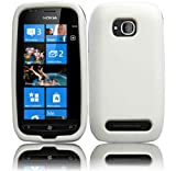 White Silicone Jelly Skin Case Cover for Nokia Lumia 710