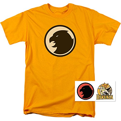 Popfunk Hawkman DC Comics T Shirt & Exclusive Stickers (X-Large)