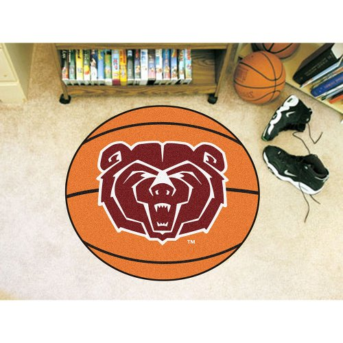 NCAA Missouri State Bears Basketball Shaped Mat Area Rug ()