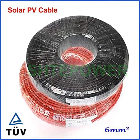 Color: red 20m Gimax 6mm2 MC4 Solar Connector Cable 20m//lot Black cable 10m+Red Cable 10m Black or Red three options TUV Approval Power Cable