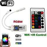 Firstsd Remote LED Wifi Timer Music Controller RGBW /RGBWW by APP IOS Android for 5050 RGB Strips lighting (wifi controller only )