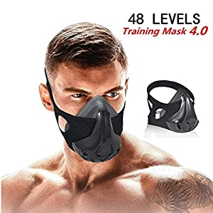 QISE Training Mask 4.0 with 8 Filters Workout Mask 48 Levels Breathing Resistance Levels – Fitness Mask Training in High…