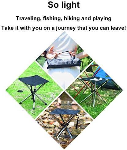 WYYH Campingstuhl Klappbar Leicht, Rostfreier Stahl Camping Stuhl Tragbares Teleskop Klappstuhl Sitz Im Freien Für Wanderrucksackreisen Im Fischergarten