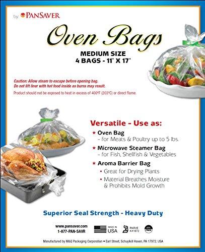 PanSaver Oven Bags 44025 Best Value Oven Bag, 11 x 17