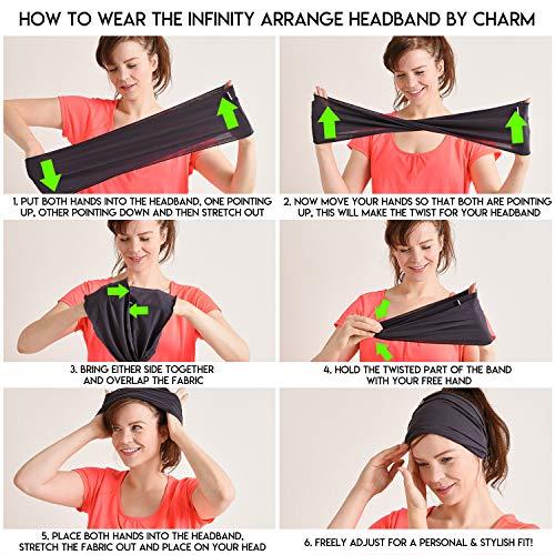 41dfe70665a Casualbox Mens Womens Elastic Bandana Headband Japanese Long Hair Dreads  Head wrap Black