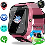 Duperym Smart Watch Phone GPS Tracker for Kids Girls Boys with Cellphone SOS Anti-Lost Alarm Clock Camera 1.44