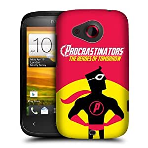Head Case Designs Heroes of Tomorrow Procrastinators Protective Snap-on Hard Back Case Cover for HTC Desire C by ruishername