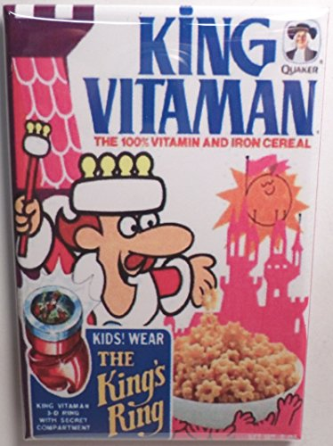 "King Vitaman Vintage Cereal Box 2"" x 3"" Refrigerator or Locker MAGNET Vitamin"