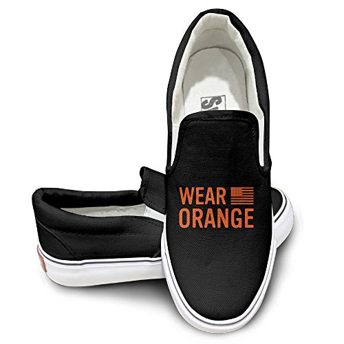 [EWIED Unisex Classic Orange Is The New Black Slip-On Shoes Black Size37] (Devil May Cry 3 Costumes)